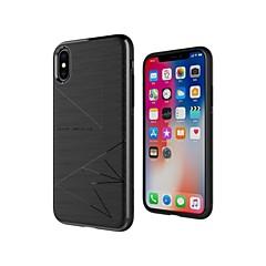 Недорогие Кейсы для iPhone X-Nillkin Кейс для Назначение Apple iPhone X / iPhone XS Защита от удара / Матовое / С узором Кейс на заднюю панель Геометрический рисунок Мягкий ТПУ для iPhone XS / iPhone X