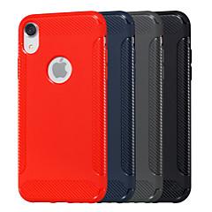 Недорогие Кейсы для iPhone X-Кейс для Назначение Apple iPhone XR / iPhone XS Max Рельефный Кейс на заднюю панель Однотонный Мягкий ТПУ для iPhone XS / iPhone XR / iPhone XS Max