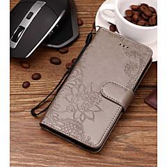 Недорогие Чехлы и кейсы для Xiaomi-Кейс для Назначение Xiaomi Mi 8 / Mi 6 Бумажник для карт / Рельефный / С узором Чехол Цветы Твердый Кожа PU для Redmi Note 5A / Xiaomi Redmi Note 5 Pro / Xiaomi Redmi Note 4