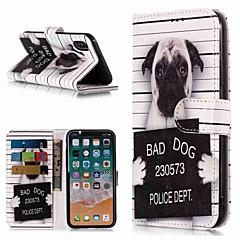 Недорогие Кейсы для iPhone 5-Кейс для Назначение Apple iPhone XR / iPhone XS Max Кошелек / Бумажник для карт / со стендом Чехол С собакой Твердый Кожа PU для iPhone XS / iPhone XR / iPhone XS Max