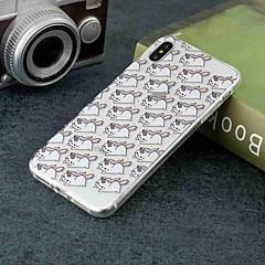 Недорогие Кейсы для iPhone X-Кейс для Назначение Apple iPhone XR / iPhone XS Max Прозрачный / С узором Кейс на заднюю панель единорогом Мягкий ТПУ для iPhone XS / iPhone XR / iPhone XS Max