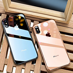 abordables Fundas para iPhone 7-Funda Para Apple iPhone 8 / iPhone XS Max Cromado / Ultrafina / Traslúcido Funda Trasera Un Color Suave TPU para iPhone XS / iPhone XR / iPhone XS Max