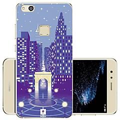 お買い得  Huawei Pシリーズケース/ カバー-ケース 用途 Huawei P10 Lite 耐衝撃 / 耐埃 / 超薄型 フルボディーケース シティビュー ソフト シリコーン のために P10 Lite