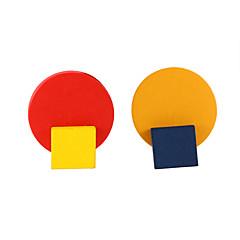 preiswerte Ohrringe-Damen Nicht übereinstimmend Ohrstecker - Künstlerisch, Geometrisch, Europäisch Gelb Für Normal Alltag
