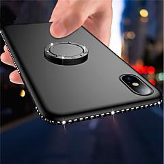 Недорогие Кейсы для iPhone 6-Кейс для Назначение Apple iPhone X / iPhone 8 Plus Кольца-держатели / Ультратонкий / Матовое Кейс на заднюю панель Стразы Мягкий ТПУ для iPhone X / iPhone 8 Pluss / iPhone 8