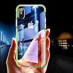 Недорогие Кейсы для iPhone 6-Кейс для Назначение Apple iPhone XR / iPhone XS Max Защита от удара / Прозрачный Кейс на заднюю панель Однотонный Мягкий ТПУ для iPhone XS / iPhone XR / iPhone XS Max