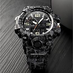 preiswerte Armbanduhren für Paare-SKMEI Militäruhr Sender Wasserdicht, Kalender, Chronograph Khaki / Camouflage Grün / Schwarz / Grau / Stopuhr / Nachts leuchtend