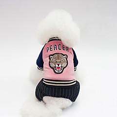 お買い得  犬用ウェア&アクセサリー-犬用 コート 犬用ウェア キャラクター / スローガン ダークブルー / グリーン / ピンク コットン コスチューム ペット用 男女兼用 ウォームアップ / シンプルなスタイル