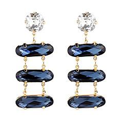 preiswerte Ohrringe-Damen Mehrschichtig Tropfen-Ohrringe - Einfach, Europäisch, Modisch Blau Für Party / Abend Alltag