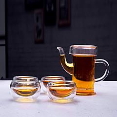 abordables Utensilios y Vasos para Café y Té-Vasos Vaso de boro alto Vidrio Don novio / Regalo novia / Adorable 5 pcs