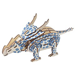 abordables Puzzles 3D-Puzzles de Madera Puzles y juguetes de lógica Dinosaurio jurásico Velociraptor Animal Colegio Nivel profesional Alivio del estrés y la ansiedad De madera 1 pcs Juventud Niños Todo Juguet Regalo