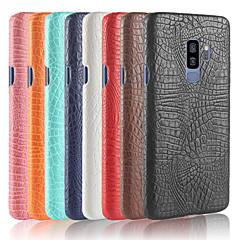 abordables Galaxy S6 Edge Carcasas / Fundas-Funda Para Samsung Galaxy S9 Plus / S9 Congelada Funda Trasera Un Color Dura Cuero de PU para S9 / S9 Plus / S8 Plus