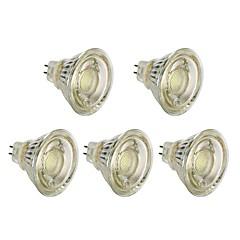 お買い得  LED 電球-5個 5 W 450 lm MR16 LEDスポットライト T45 1 LEDビーズ COB クリスマスウェディングデコレーション 温白色 / ホワイト 12 V