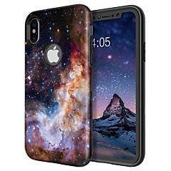 Недорогие Кейсы для iPhone X-Кейс для Назначение Apple iPhone X / iPhone XS Защита от удара / С узором / Wireless Charging Receiver Case Кейс на заднюю панель Пейзаж / Градиент цвета Твердый ТПУ / ПК для iPhone XS / iPhone X