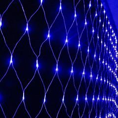 お買い得  LED ストリングライト-1.5m ストリングライト 144 LED ブルー 装飾用 220-240 V 1セット