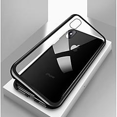 Недорогие Кейсы для iPhone X-Кейс для Назначение Apple iPhone X / iPhone 8 / iPhone 8 Plus Защита от удара / Прозрачный / Магнитный Чехол Однотонный Твердый Закаленное стекло / Металл для iPhone X / iPhone 8 Pluss / iPhone 8