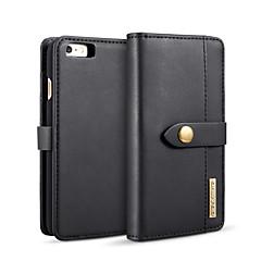 Недорогие Кейсы для iPhone-Кейс для Назначение Apple iPhone 6 / iPhone 6s Кошелек / Бумажник для карт / со стендом Чехол Однотонный Твердый Кожа PU для iPhone 6s / iPhone 6