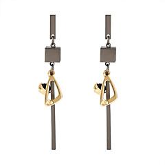 preiswerte Ohrringe-Damen Lang Tropfen-Ohrringe - Geometrisch, Europäisch, Modisch Schwarz Für Party Alltag