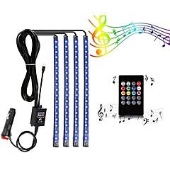 お買い得  LED ストリングライト-ZDM® 1m ライトセット 48 LED SMD5050 1 24キーリモコン / 1セット取付金具 温白色 / RGB 防水 / 新デザイン / 車に最適 12 V 1セット