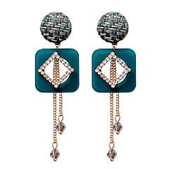 preiswerte Ohrringe-Damen Kristall Gliederkette Tropfen-Ohrringe - vergoldet Quaste, Europäisch Blau / Hellbraun Für Strasse