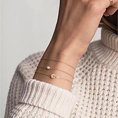 preiswerte Armbänder-Damen Einzelkette ID Armband - Buchstabe Modisch, Elegant Armbänder Gold Für Alltag Arbeit