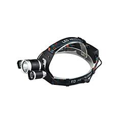 preiswerte Stirnlampen-Stirnlampen LED 2400 lm 4.0 Beleuchtungsmodus inklusive Ladegerät Wasserfest / Stoßfest / Wiederaufladbar Camping / Wandern / Erkundungen / Für den täglichen Einsatz / Radsport
