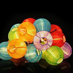 preiswerte LED Lichtstreifen-4m Leuchtgirlanden 20 LEDs Warmes Weiß Solar / Dekorativ Solarbetrieben 1 set