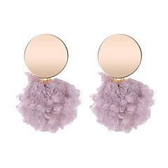 preiswerte Ohrringe-Damen Geometrisch Tropfen-Ohrringe - Kugel Einfach, Koreanisch, nette Art Violett / Rot / Grün Für Normal Alltag