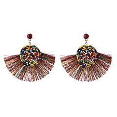 preiswerte Ohrringe-Damen Perlenbesetzt Tropfen-Ohrringe - Böhmische, Europäisch, Ethnisch Grün / Blau / Rosa Für Normal Alltag