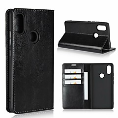 cheap Cases / Covers for Xiaomi-Case For Xiaomi Mi 8 / Mi 8 SE Wallet / Shockproof / with Stand Full Body Cases Solid Colored Hard Genuine Leather for Xiaomi Mi 8 / Xiaomi Mi 8 SE / Xiaomi Mi 6X(Mi A2) / Xiaomi Mi 4s