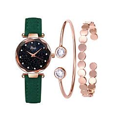 お買い得  レディース腕時計-女性用 リストウォッチ クォーツ 30 m クリエイティブ カジュアルウォッチ PU バンド ハンズ ファッション 多色 ブラック / レッド / グレー - ピンク カーキ色 ダークグリーン