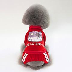 お買い得  犬用ウェア&アクセサリー-犬用 スウェットシャツ 犬用ウェア シンプル / ブリティッシュ ダークブルー / レッド / ピンク コットン コスチューム ペット用 男女兼用 スウィート / ウォームアップ