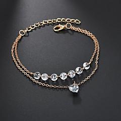 preiswerte Armbänder-Damen Kubikzirkonia Mehrschichtig Tennis Armbänder Wickelarmbänder - Diamantimitate Herz Modisch, Elegant Armbänder Gold Für Hochzeit Verlobung