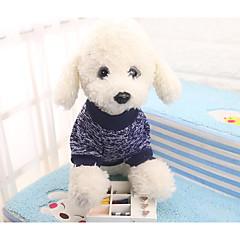 お買い得  犬用ウェア&アクセサリー-犬用 / 猫用 スウェットシャツ 犬用ウェア カラーブロック / シンプル ダークブルー 繊維 コスチューム ペット用 男女兼用 普通 / レジャー