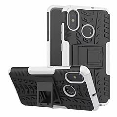 Недорогие Чехлы и кейсы для Xiaomi-Кейс для Назначение Xiaomi Mi 8 со стендом Кейс на заднюю панель броня Твердый ПК для Xiaomi Mi 8