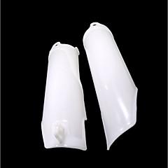 お買い得  カーアクセサリー-crf250 crf450ダートピットバイクのための白いプラスチックのフロントフォークサスペンションガードカバープロテクター