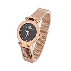 preiswerte Damenuhren-Damen Armbanduhr Quartz Armbanduhren für den Alltag Stoff Band Analog Modisch Elegant Schwarz / Blau / Braun - Purpur Braun Blau