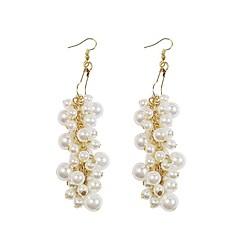 preiswerte Ohrringe-Damen Gliederkette Tropfen-Ohrringe - Perle, vergoldet Europäisch Weiß Für Verabredung