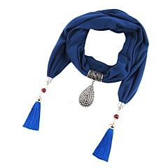 preiswerte Halsketten-Lureme® 1pc Polyester / Baumwolle Draussen zum Blau Wein Leicht Grün / Damen / Schal Halskette / überdimensional