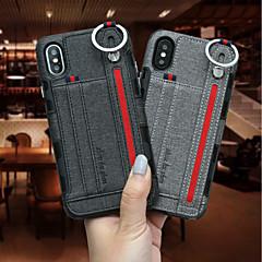 Недорогие Кейсы для iPhone-Кейс для Назначение Apple iPhone XR / iPhone XS Max Бумажник для карт Кейс на заднюю панель Однотонный Твердый текстильный для iPhone XS / iPhone XR / iPhone XS Max