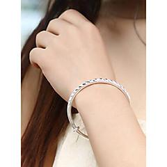 preiswerte Armbänder-Damen 3D Armreife - Einfach Armbänder Silber Für Alltag