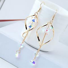 preiswerte Ohrringe-Damen Lang Tropfen-Ohrringe - Strass Tropfen Quaste, Europäisch, Modisch Gold / Silber Für Normal Alltag
