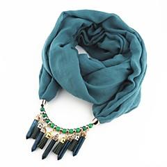 お買い得  ネックレス-女性用 据え付けられた スカーフネックレス  -  欧風, ロマンチック, エスニック キュート レッド, ブルー, ライトグリーン 180 cm ネックレス ジュエリー 1個 用途 パーティー, お出かけ
