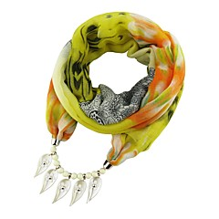 preiswerte Halsketten-Damen Lang Schal Halskette - Süß, Elegant, Volkston Niedlich Rot, Blau, Leicht Grün 180 cm Modische Halsketten Schmuck 1pc Für Party, Ausgehen