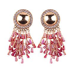 preiswerte Ohrringe-Damen Kubikzirkonia Quaste Tropfen-Ohrringe - Spitze Luxus, Quaste Fuchsia / Regenbogen / Beige / Weiß Für Party / Abend Festtage