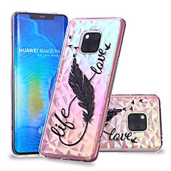 Недорогие Чехлы и кейсы для Huawei Mate-Кейс для Назначение Huawei Huawei Mate 20 Lite / Huawei Mate 20 Pro С узором Кейс на заднюю панель  Перья Мягкий ТПУ для Huawei Nova 3i / P smart / Huawei P Smart Plus