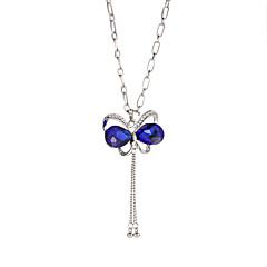 preiswerte Halsketten-Damen Kristall Charme - Strass Schmetterling, Schleife damas, Süß, Modisch Niedlich, Cool Blau, Marineblau, Lavendel Modische Halsketten Schmuck 1pc Für Alltag, Strasse