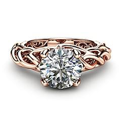 preiswerte Ringe-Damen Klar Kubikzirkonia Ring - Rose Gold überzogen, Diamantimitate Leben Baum Künstlerisch, Modisch 6 / 7 / 8 / 9 / 10 Rotgold Für Party Verabredung