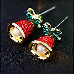abordables Bijoux pour Femme-Femme 3D Boucles d'oreille goujon - Imitation de perle Manches Pagode Elégant, Classique Or Pour Noël Quotidien