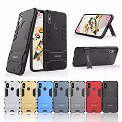 Недорогие Чехлы и кейсы для Xiaomi-Кейс для Назначение Xiaomi Mi 8 Защита от удара / со стендом Кейс на заднюю панель Однотонный Твердый ПК для Xiaomi Mi 8